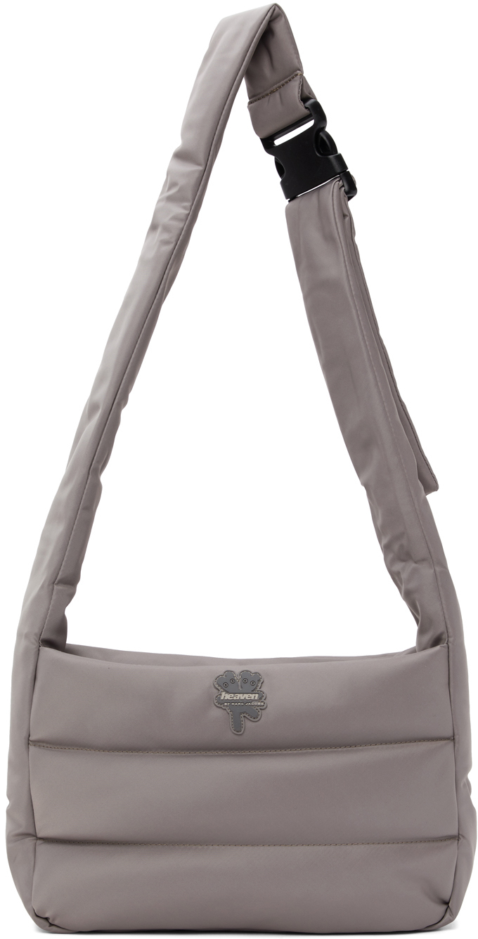 MARC JACOBS TAUPE HEAVEN BY MARC JACOBS NYLON MESSENGER BAG