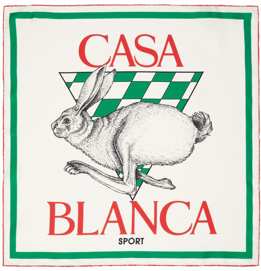 White Silk Casa Sport Scarf