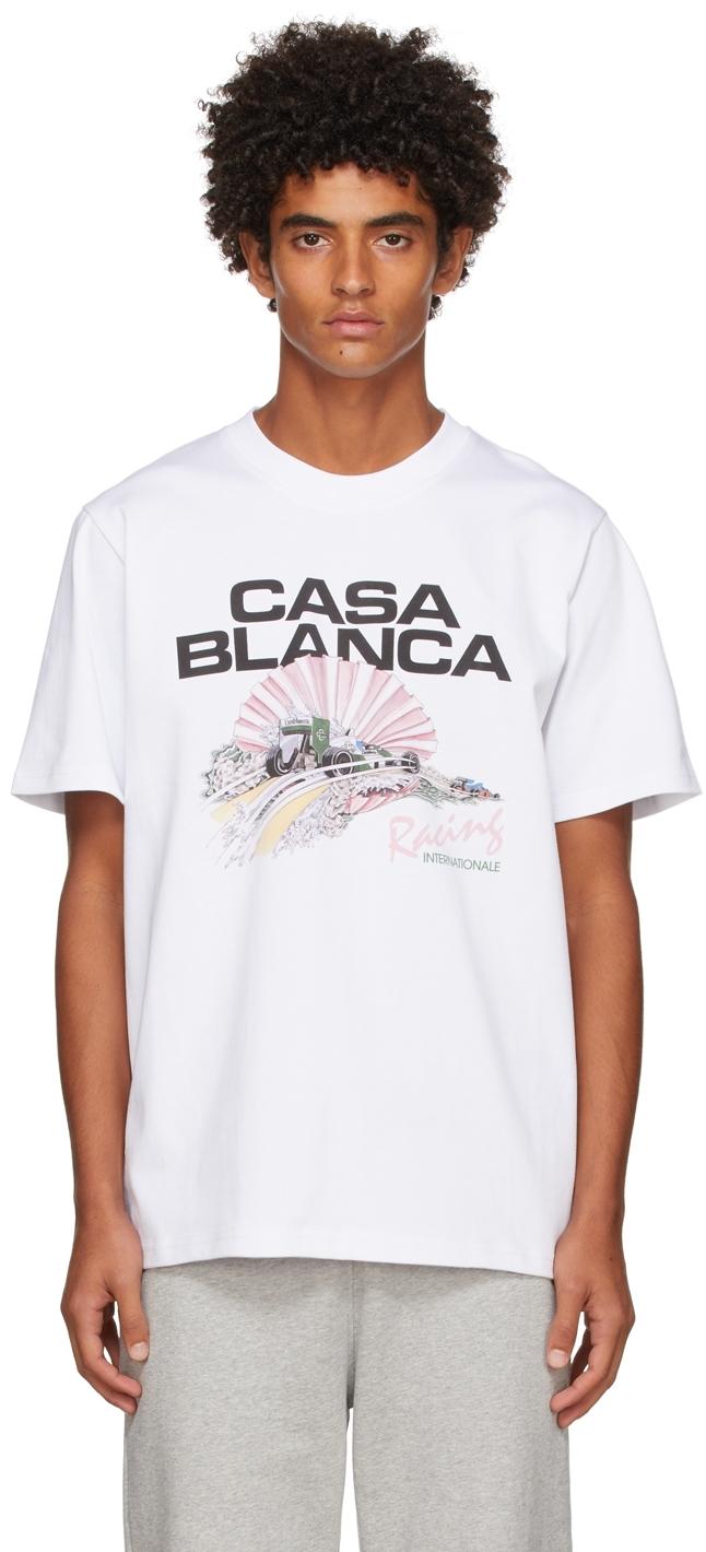 White Racing Shell T-Shirt