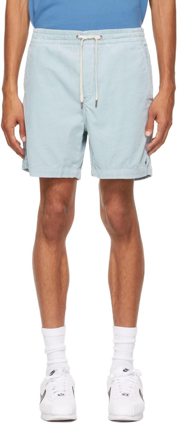 Blue Corduroy 6 Inch Prepster Shorts