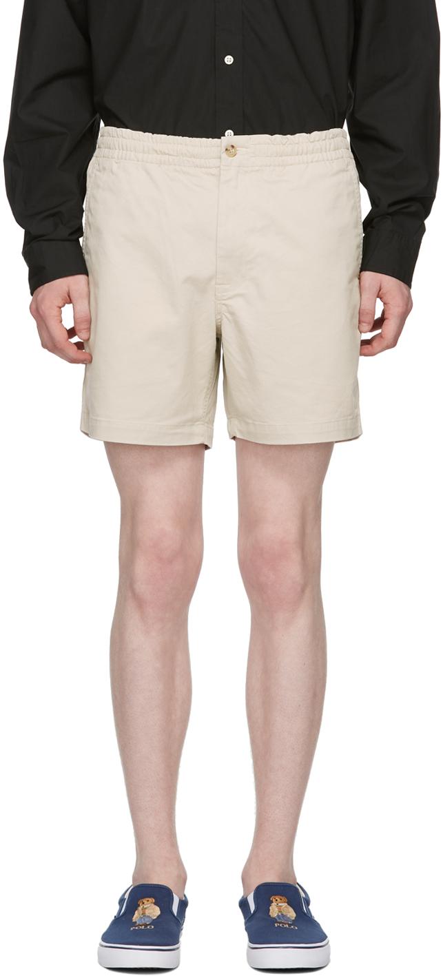 Beige Prepster Shorts