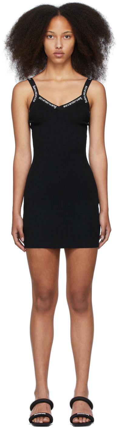 Black Bodycon Logo Dress