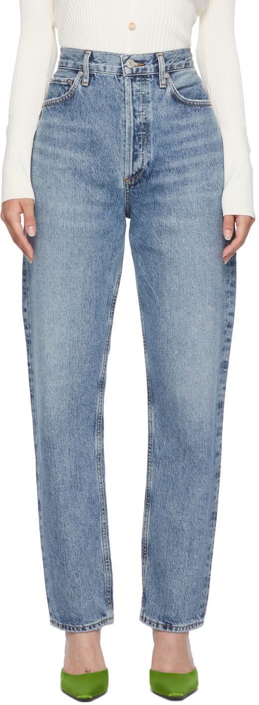 AGOLDE Blue 90s Pinch Waist Jeans