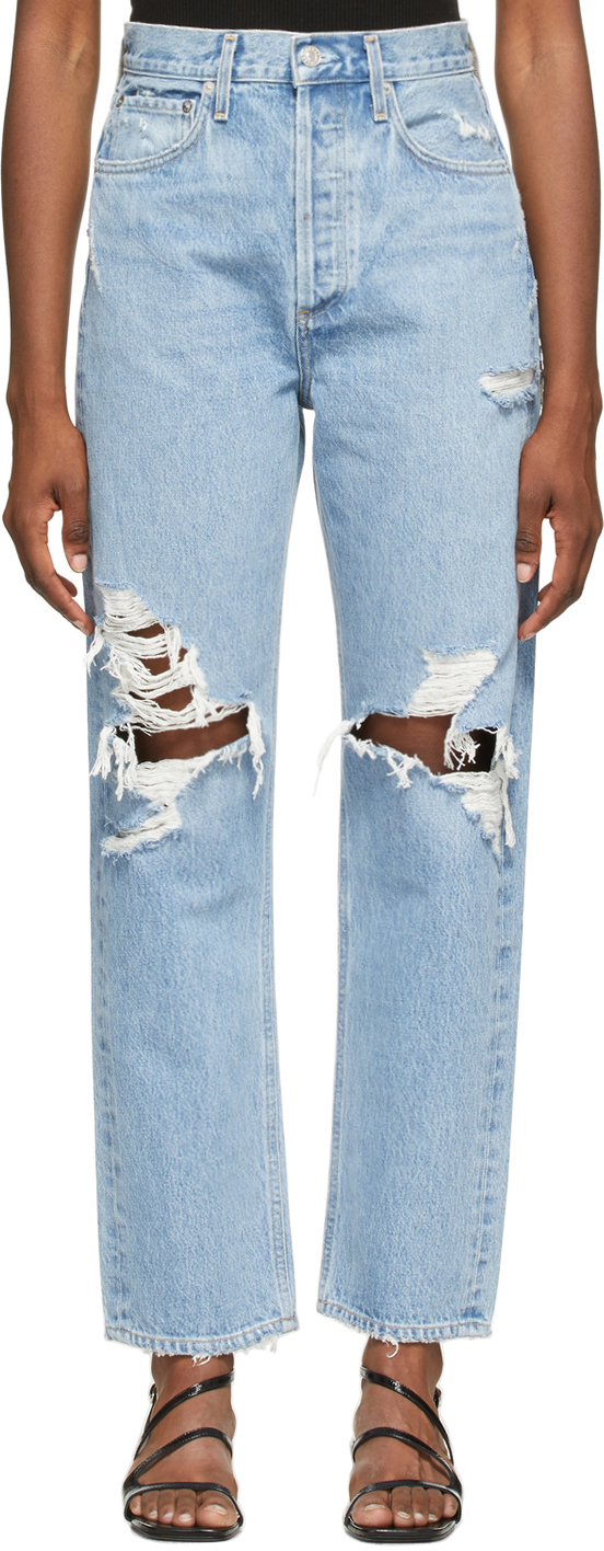 AGOLDE Blue '90s Mid-Rise Loose-Fit Jeans