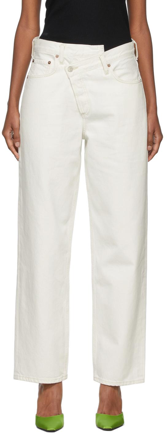 AGOLDE Off-White Criss Cross Upsized Jeans