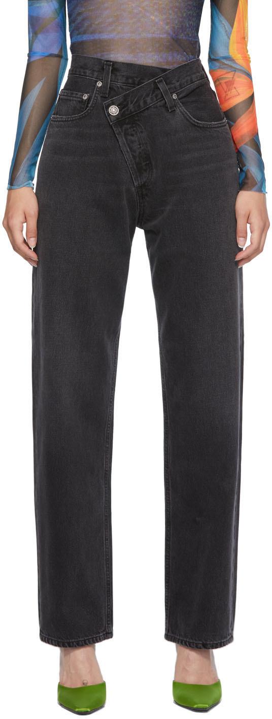 AGOLDE Black Criss Cross Upsized Jeans