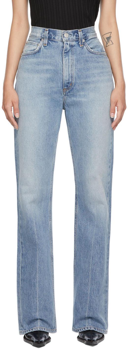 AGOLDE Blue Vintage High-Rise Flare Jeans
