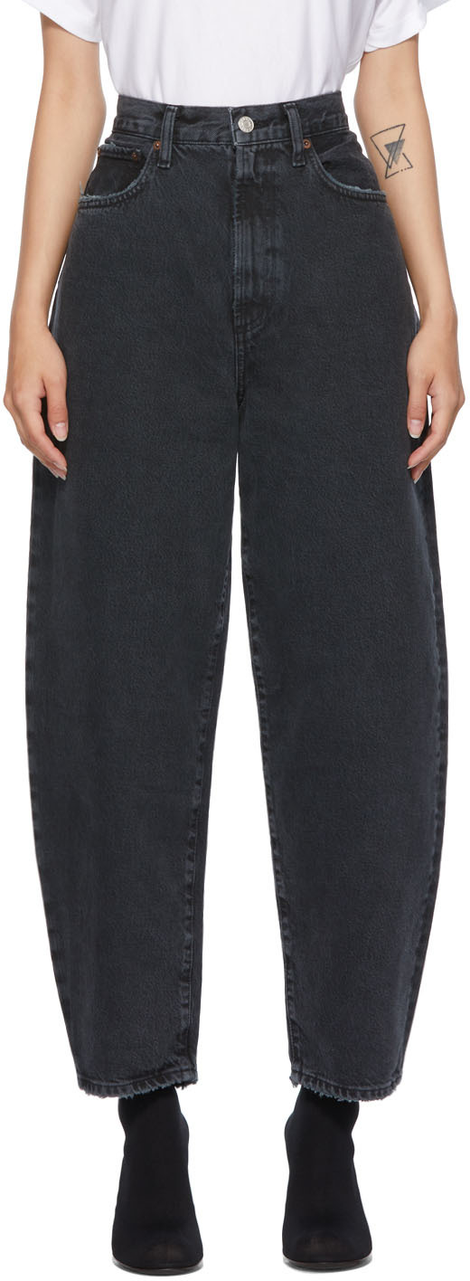 AGOLDE Black Balloon Ultra High Curved Taper Jeans