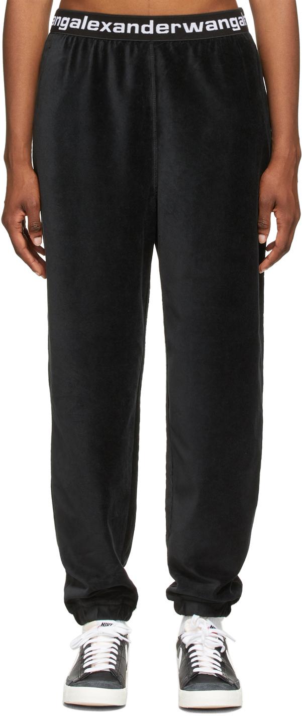 Black Stretch Corduroy Lounge Pants
