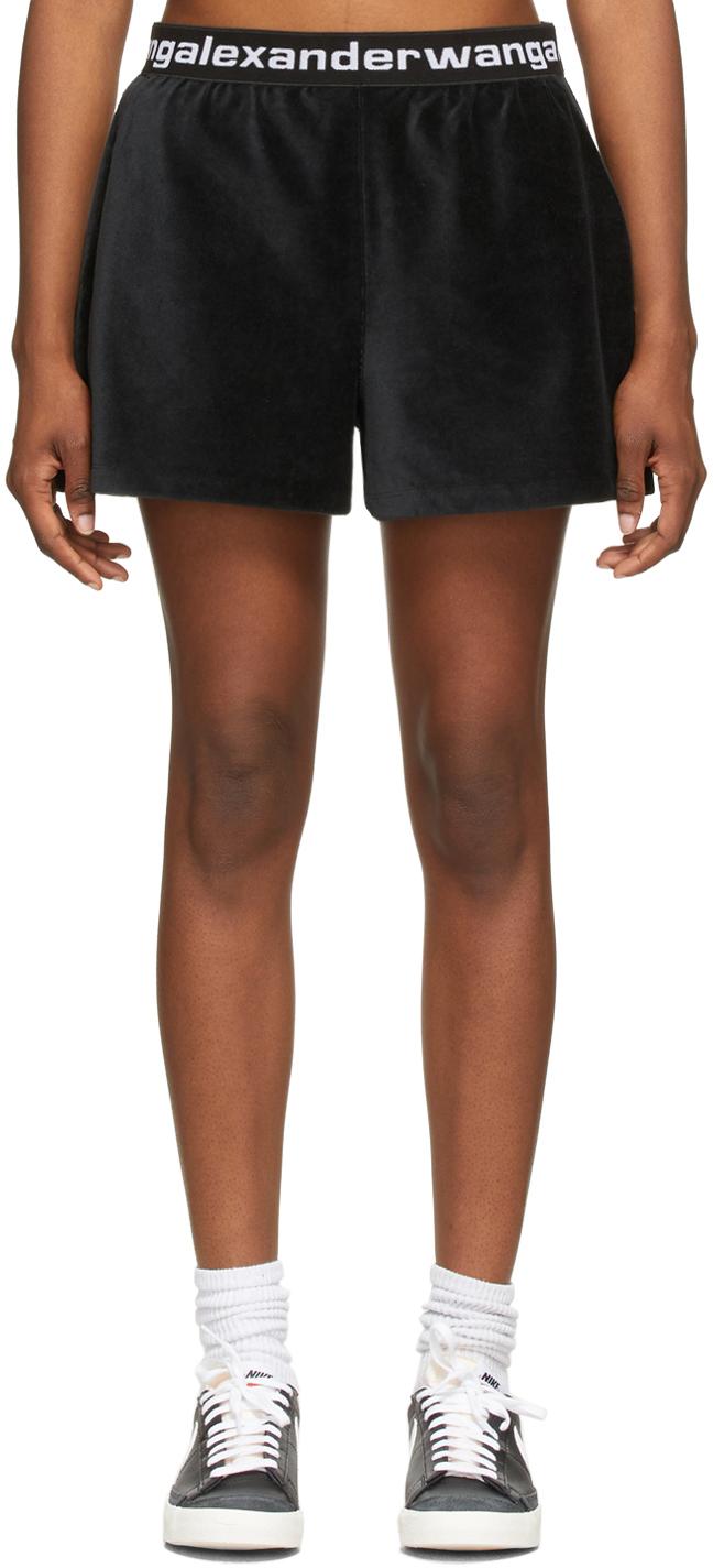 Black Stretch Corduroy Shorts