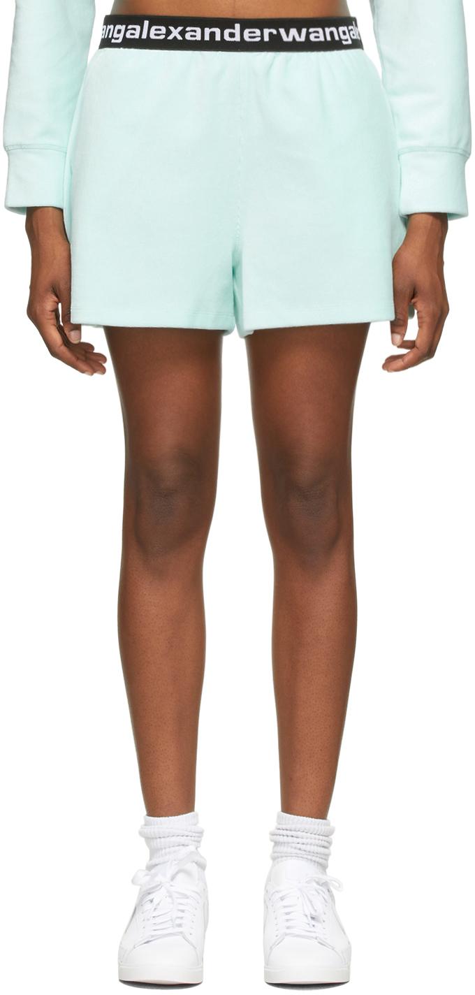 Blue Stretch Corduroy Shorts