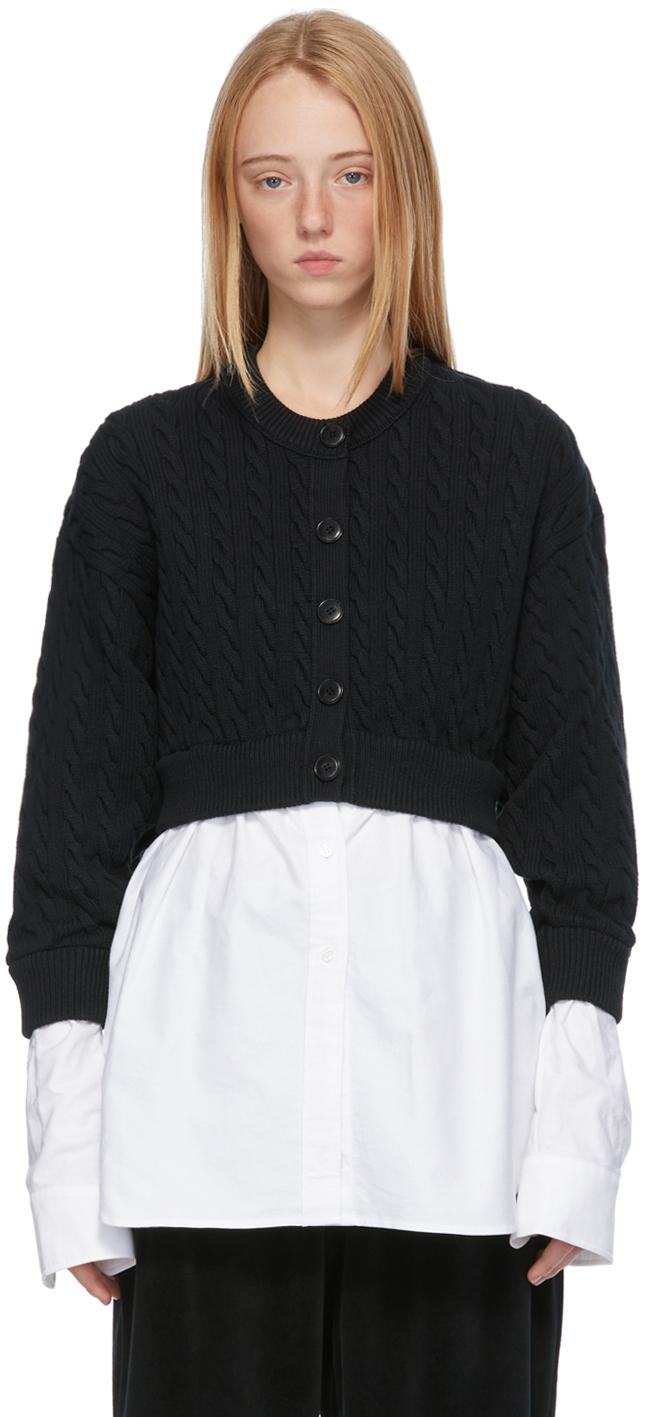Black & White Hybrid Cardigan