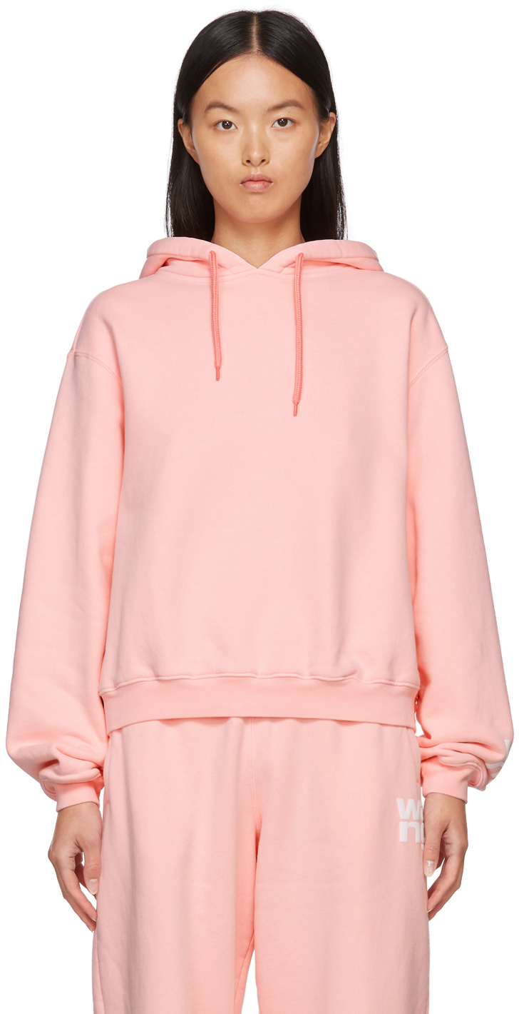 Pink Puff Logo Structured Hoodie