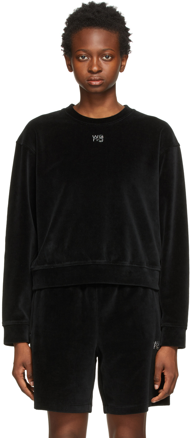 Black Hotfix Logo Sweatshirt
