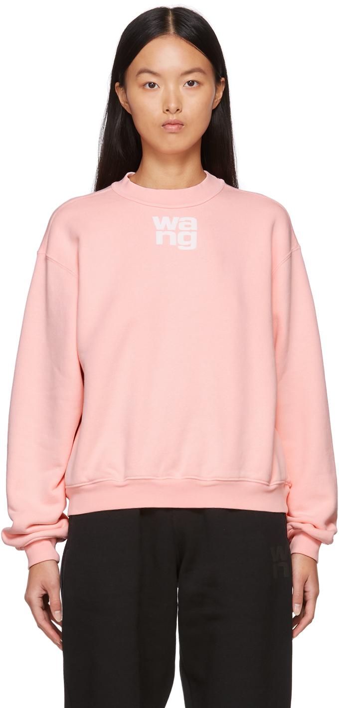 Pink Puff Logo Structured Sweatshirt