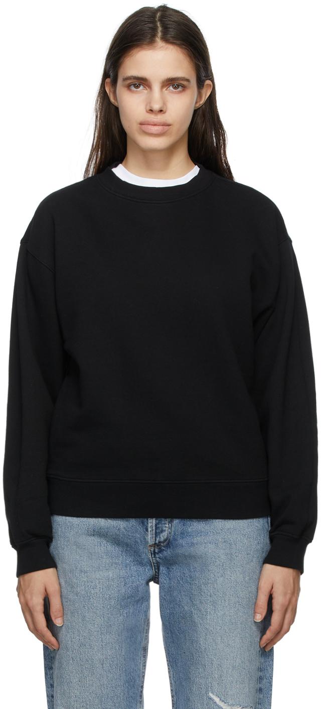 Black Nolan Drop Shoulder Sweatshirt