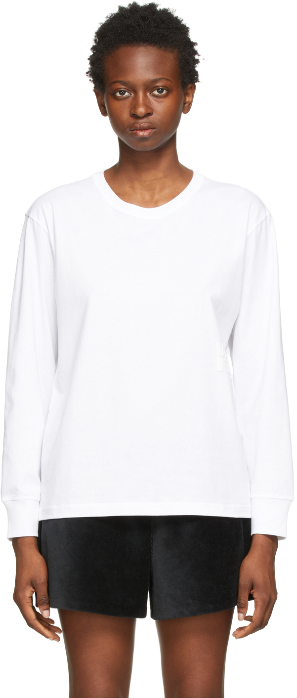 White Puff Logo Long Sleeve T-Shirt