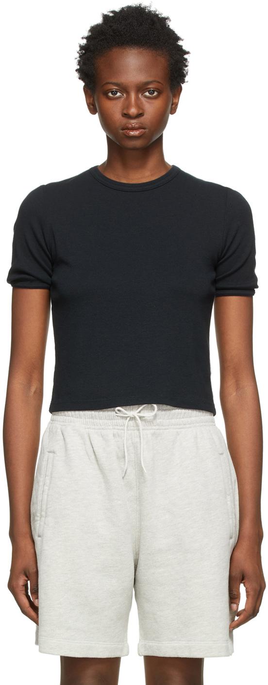 Black Rib Relaxed T-Shirt