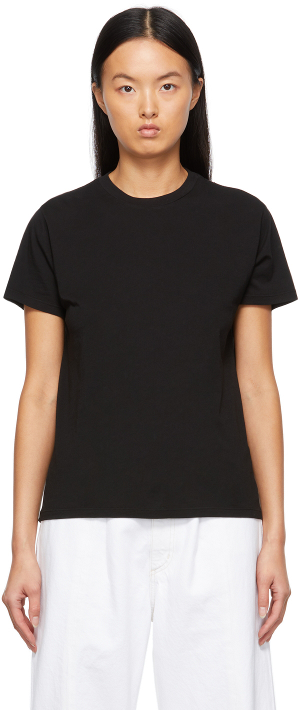 Black Supima Cotton Rena T-Shirt
