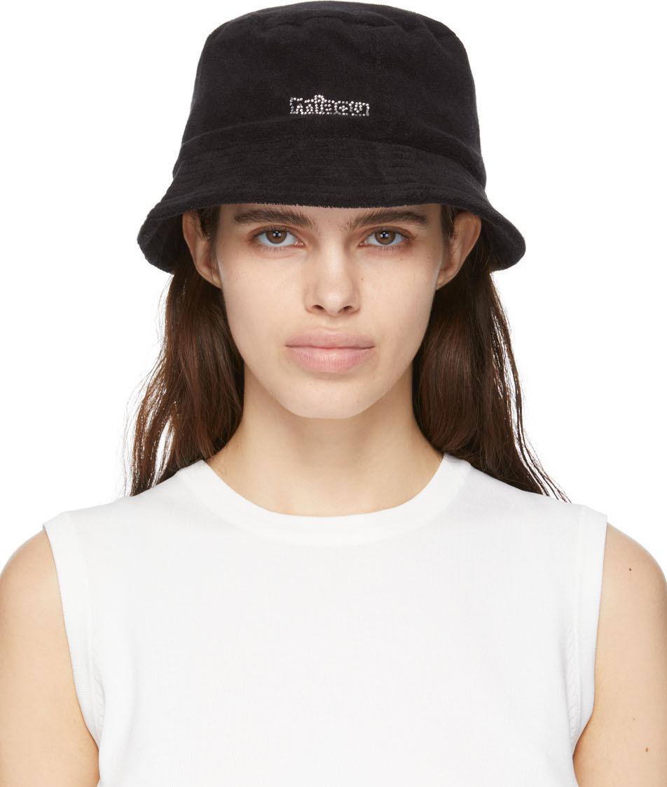 Black Terrycloth Lil' Bucket Hat