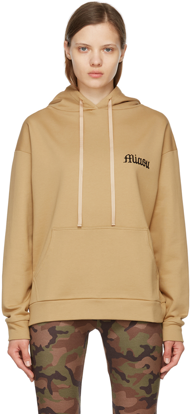 SSENSE Exclusive Taupe Shag Hoodie