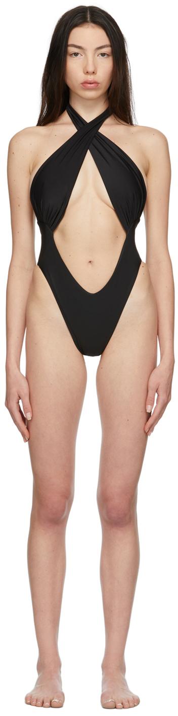 Black Demi One-Piece Swimsuit