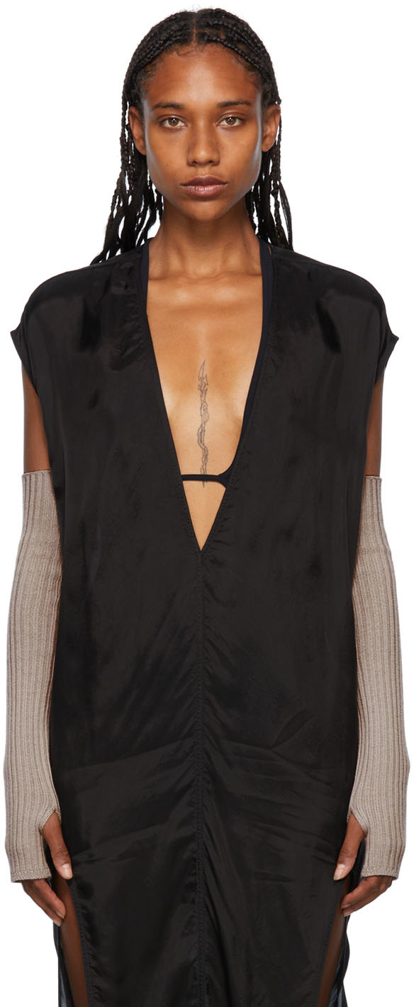 Off-White Wool Arm Warmers