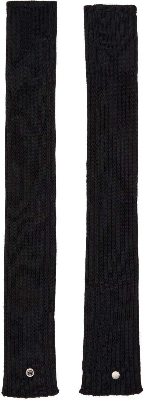 Black Wool Arm Warmers