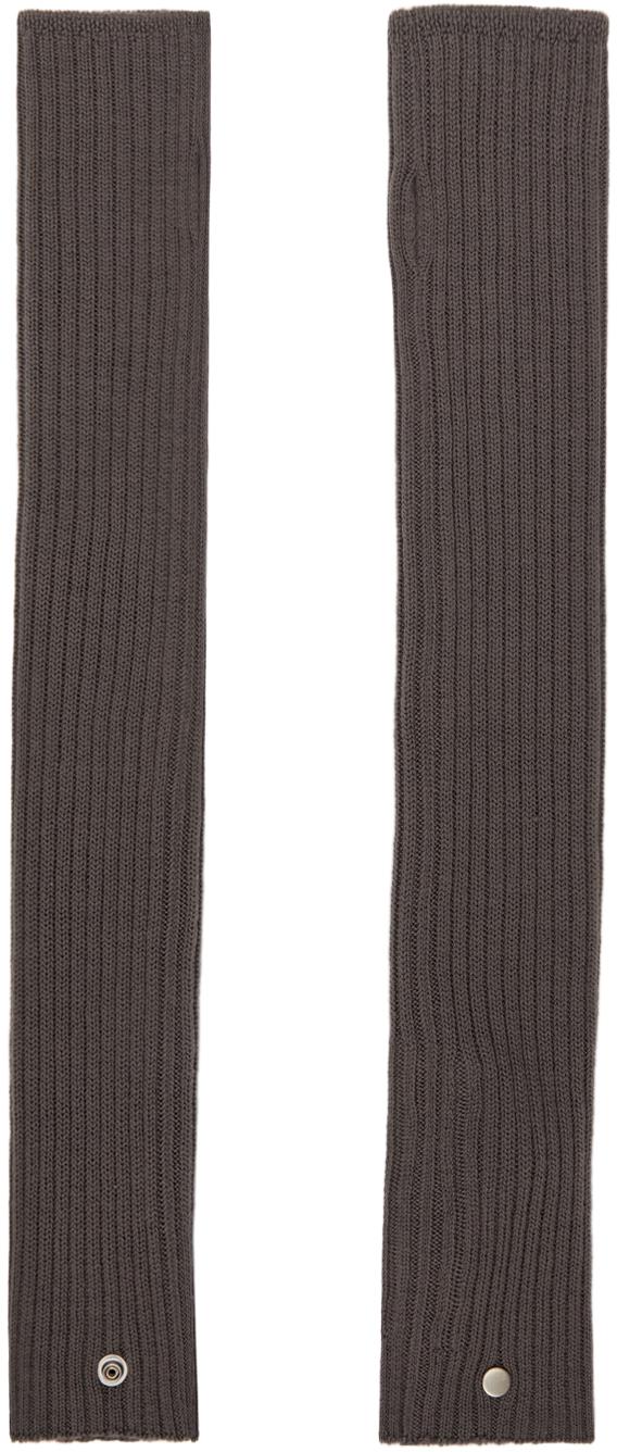 Grey Wool Arm Wamers