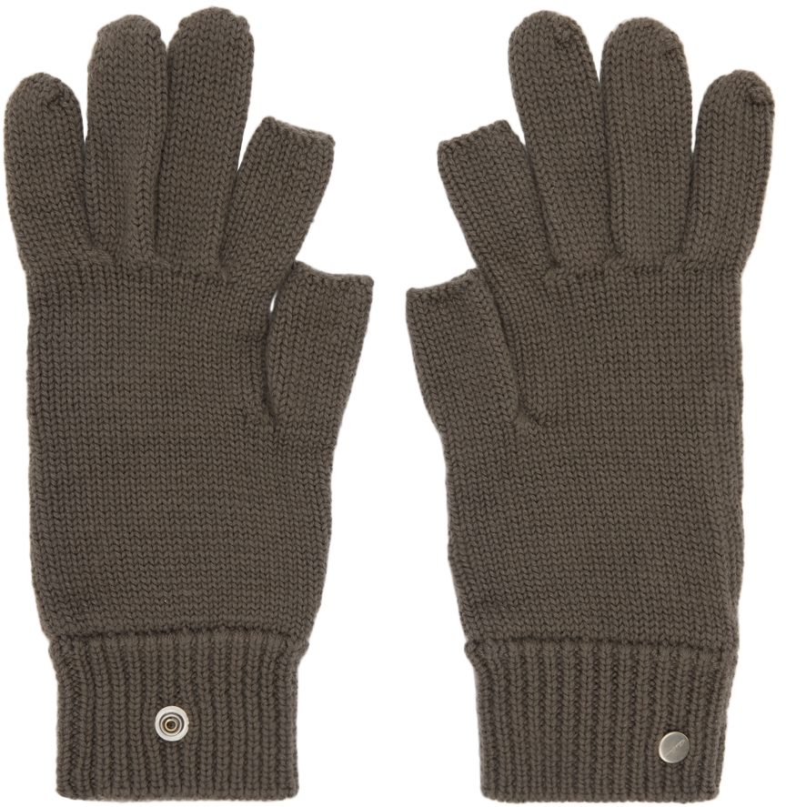 Grey Cashmere Touch Screen Gloves