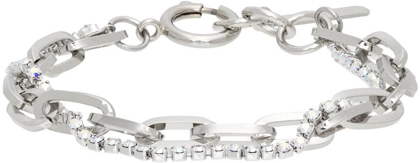 SSENSE Exclusive Silver & White Kirsten Bracelet