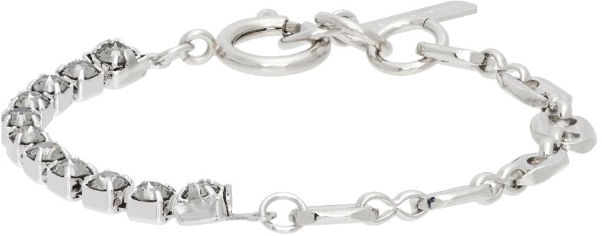 SSENSE Exclusive Silver & Grey Vic Bracelet