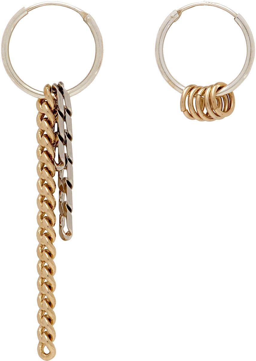 Silver & Gold Jane Hoop Earrings