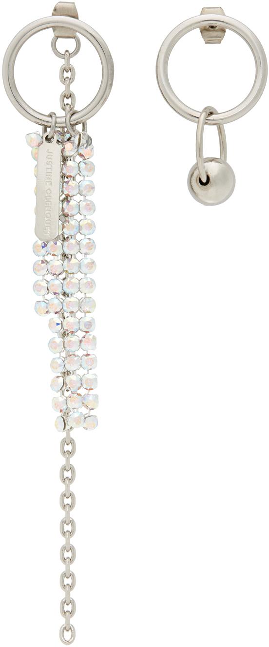 SSENSE Exclusive Silver & White Jess Earrings
