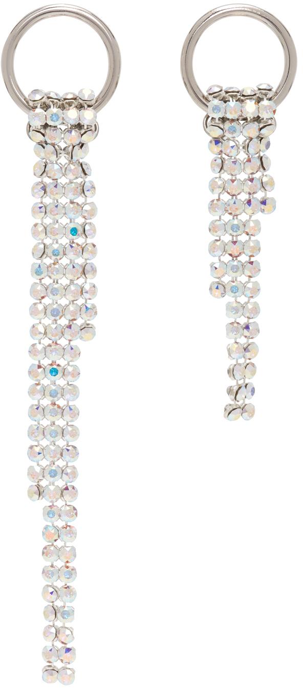 SSENSE Exclusive Silver & White Shanon Earrings