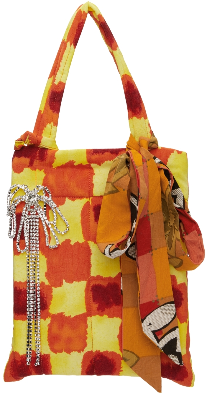 SSENSE Exclusive Yellow & Red Crystal Pin Tote