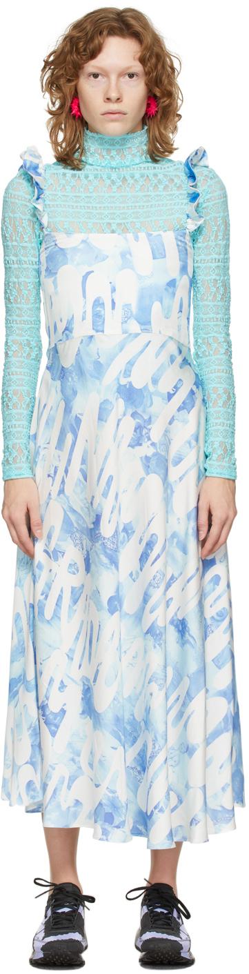 Blue Ruffle Market Dress