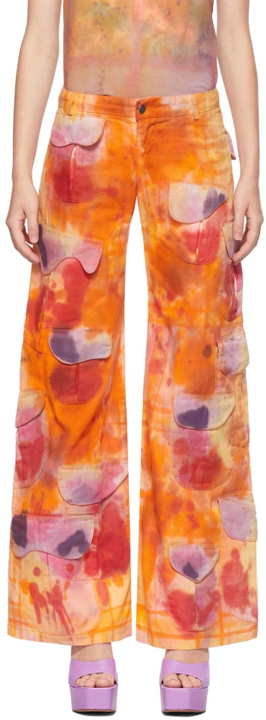 Orange Runway Cargo Trousers