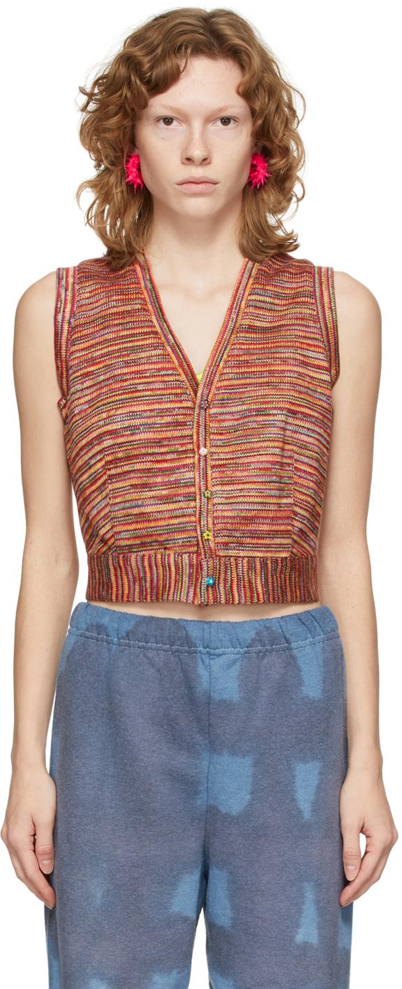 Multicolor Knit Vest