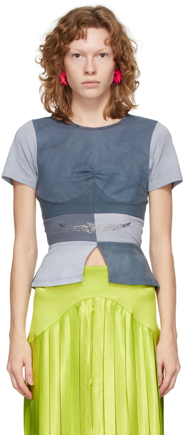 Blue Upcycled Gina T-Shirt