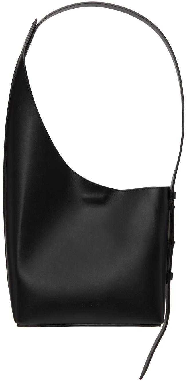 Black Demi Lune Shoulder Bag