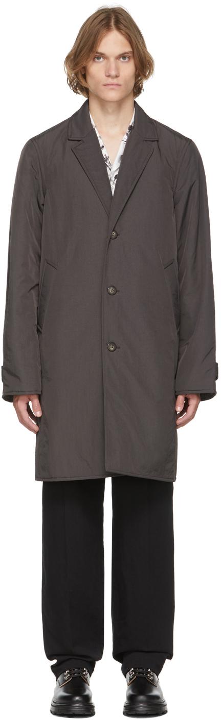 Grey Taffeta Coat