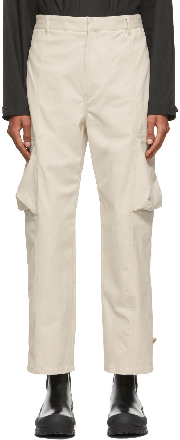 Beige Twill Keagan Cargo Pants