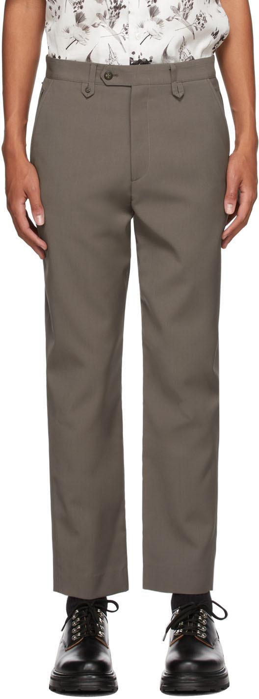 Grey Wool Wilbur Trousers