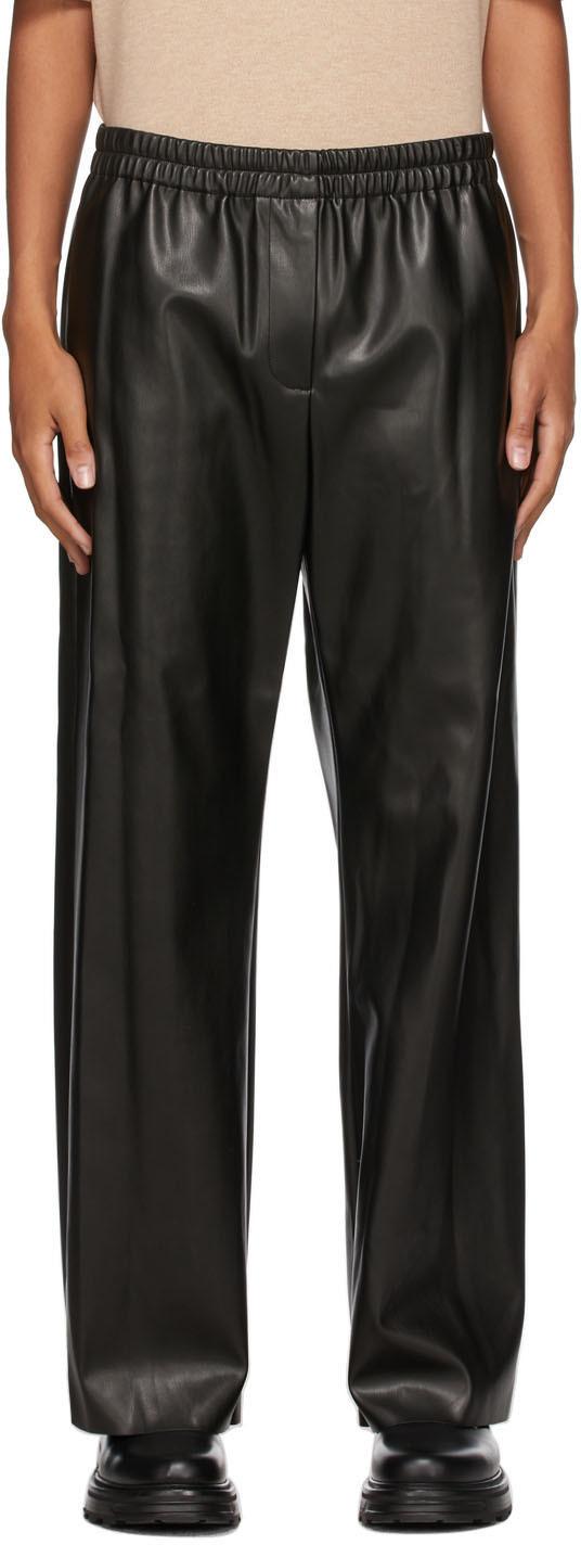 Black Vegan Leather Erick Trousers