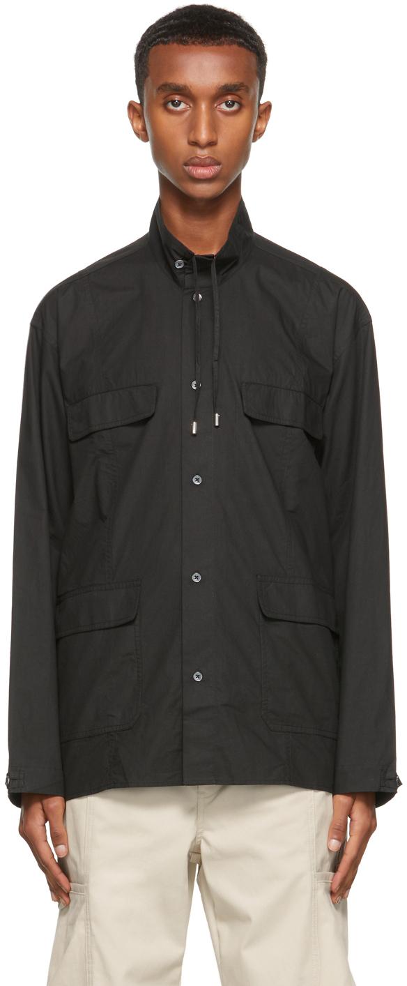 Black Poplin Evan Shirt