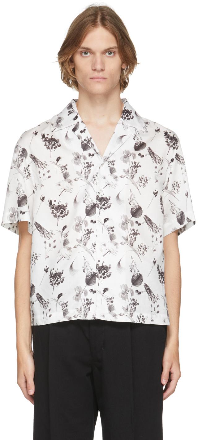 White Floral Resort Short Sleeve Shirt