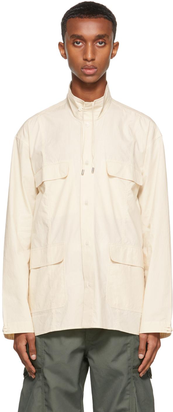 Beige Poplin Evan Shirt