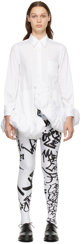 White Cotton Ruffle Dress