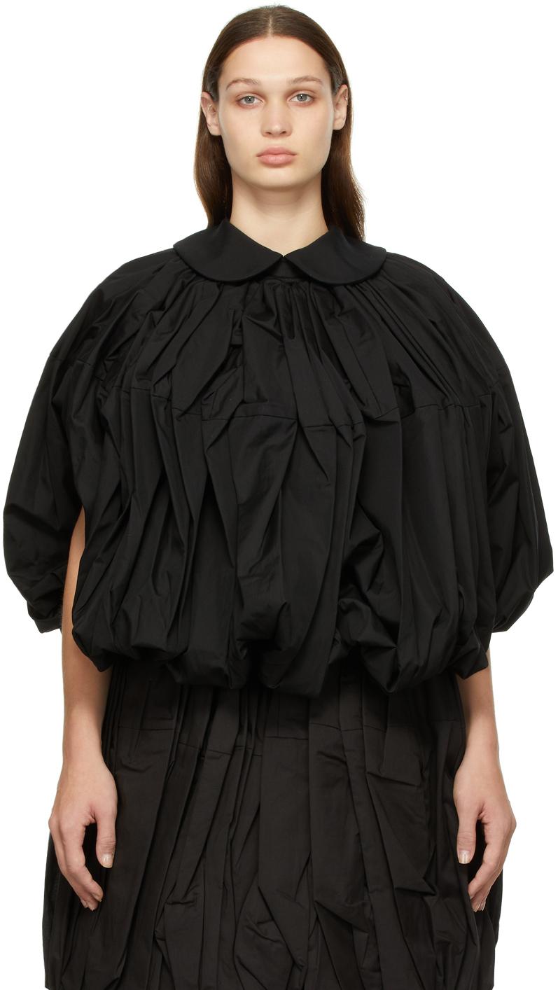 Black Broad Bubble Jacket